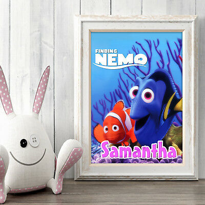 Finding Nemo Dory Personalised Poster A5 Print Wall Art Custom Name ✔