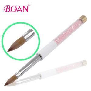 1PC-Acrylic-Nail-Brush-Kolinsky-Hair-Pink-Rhinestone-Handle-Nail-Art-Tool-12