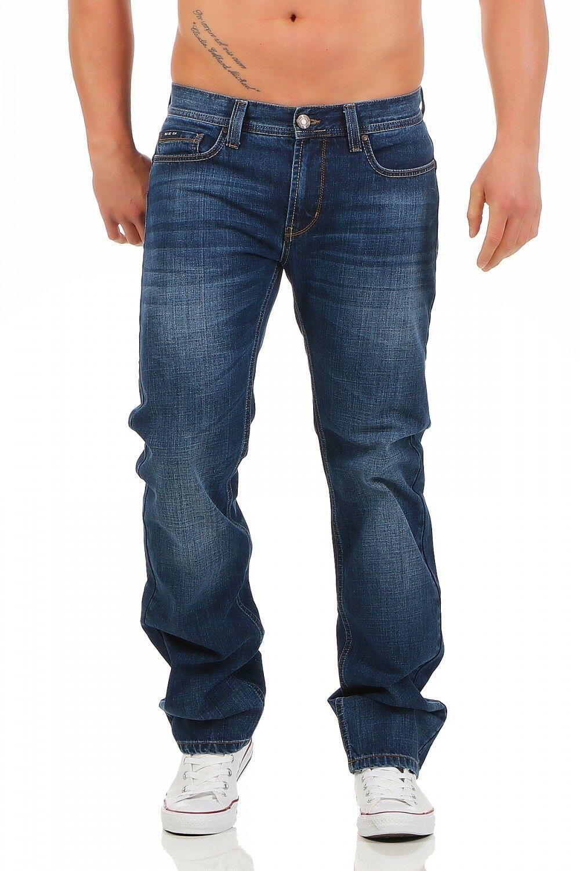 BIG SEVEN - DAN - ATLANTA WASH - Regular Fit - Übergrösse Blau Herren Jeans Hose  | Exquisite (in) Verarbeitung
