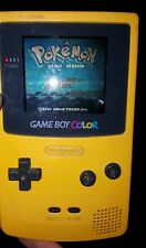Nintendo Game Boy Color Yellow with Pokemon Silver and Ms Pacman WORKS GREAT!!!
