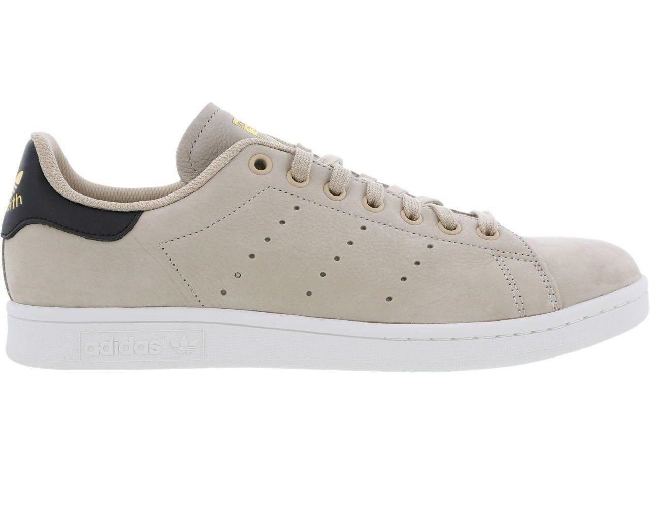 Mens ADIDAS STAN SMITH Clay Brown Leather Trainers CM8100
