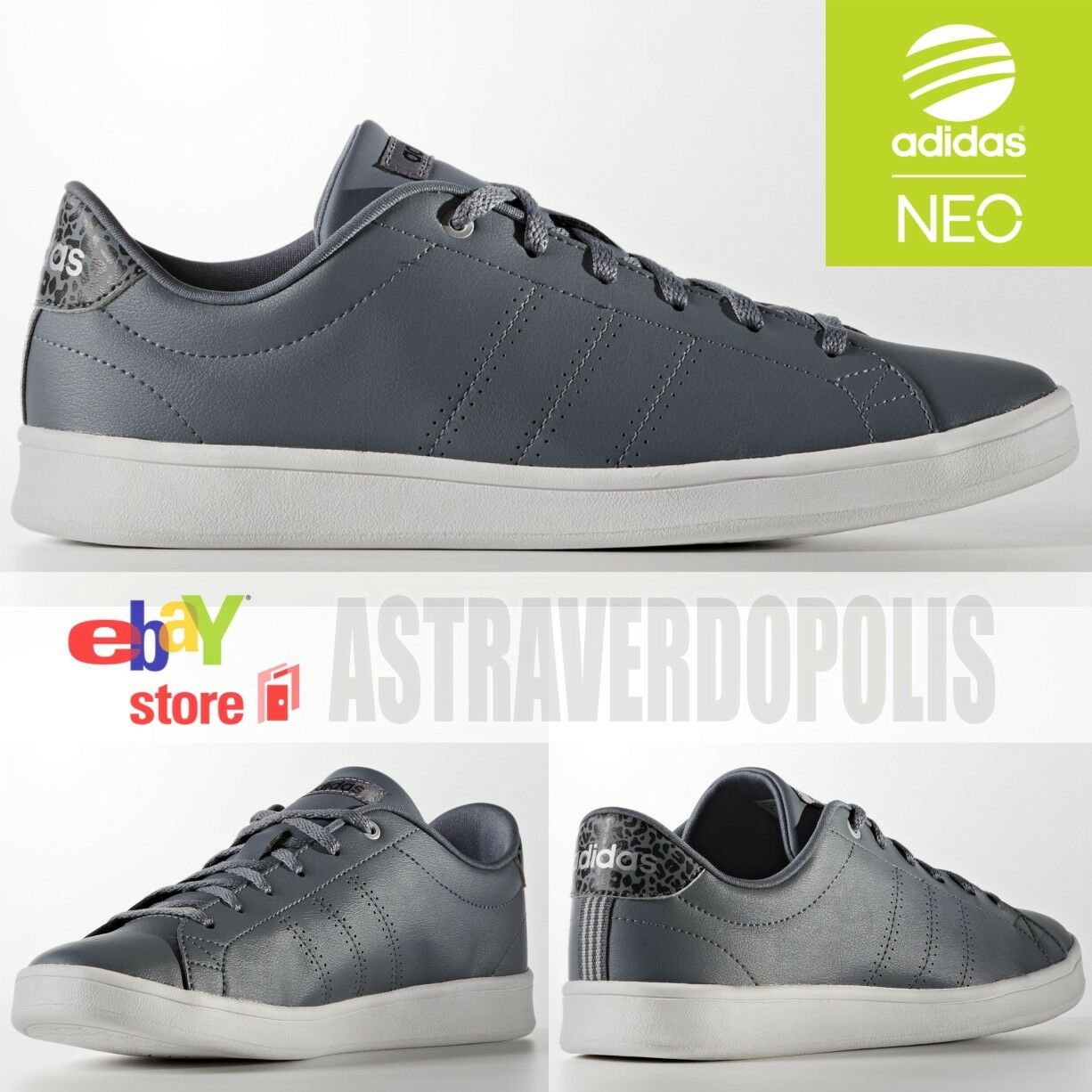 Adidas Neo Gray Originals STAN SMITH Superstar Womens Sneakers Shoes AW3972