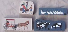 Set 4 Cats Meow WATKINS WAGON Cows Traveling Family Ducks