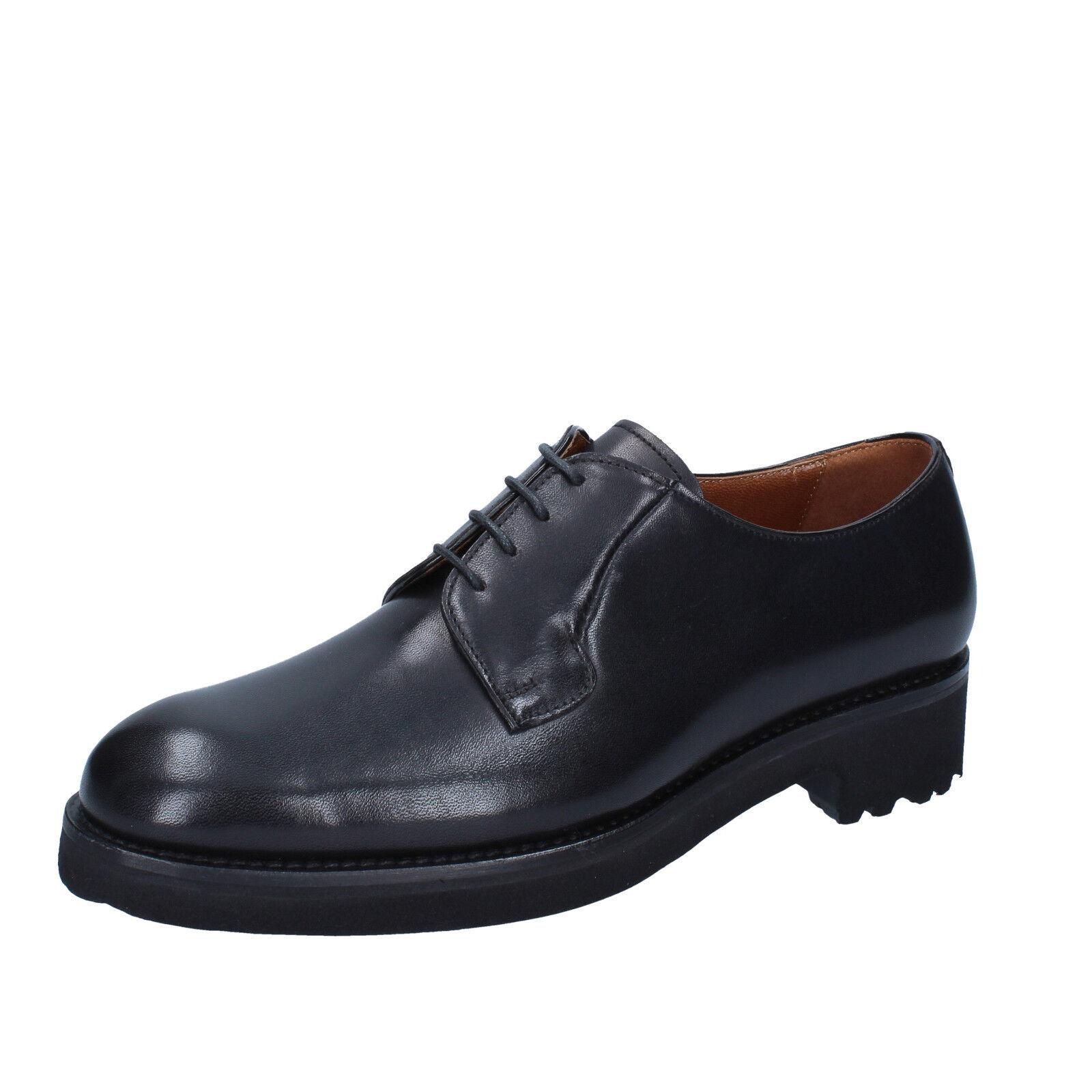 Men's shoes ALEXANDER 7 (EU 40) elegant black leather BY449-40