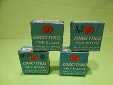 CORGI TOYS 1450 1451 4x BOX for TYRES  - ONLY BOXES - BLUE 4cm x 4cm - GOOD COND