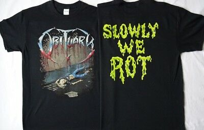 Obituary Official T-Shirt Slowly We Rot Classic Cult Death Metal All Size New !