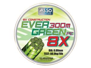 Asso Evergreen Braid 300m 59.9lb 0.32mm dia