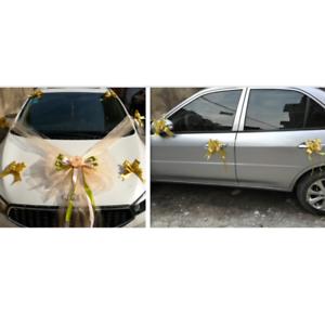 Cars-Wedding-Decor-Kit-Organza-Flower-Ball-Ribbon-Bows-Garland-Wrap-Party-W8H