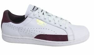 1bddf33c92c Puma Match 74 UPC Lace Up White Burgundy Mens Leather Trainers ...