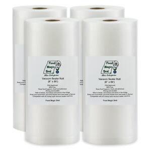 Vacuum-Sealer-Storage-Bags-4-8-034-x50-039-Rolls-Food-Magic-Seal-4-Mil-Great-Saver
