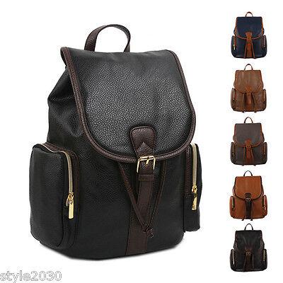 New Vintage Leather Travel Shoulder Women Satchel Backpack School Bag Handbag