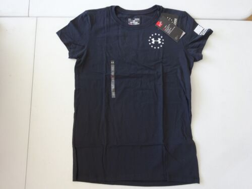 Under Armour Women/'s Charged Cotton Tri-Blend Freedom Flag 2.0 Tactical Tee NWT