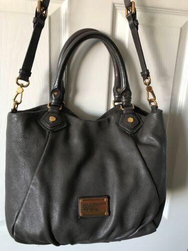 Marc Jacobs Fran Shopper Bag Aluminium Klassieke Handtas Q By Faded Donkergrijs Ybv6g7fy
