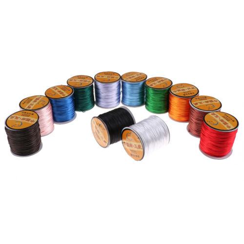 75Meter 1mm Chinese Knot Satin Nylon Braided Cord Macrame Beading Rattail CordRS