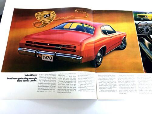 1970 Plymouth Valiant Duster 340 Mopar Original Dealer Sales Brochure Catalog