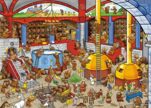 GOLIATH JIGSAW PUZZLE THAT/'S LIFE BREWERY 1000 PCS CARTOON #71329