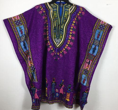 Uniti Causal Unisex African Purple One Size Dashik