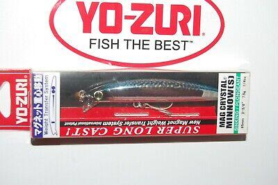 """yo zuri mag crystal minnow 85s sinking 3 3//8/"""" 1//4oz f1131-c24 blue mackerel"""