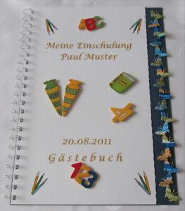 Gaestebuch-Schulanfang-Einschulung-1-Schultag-Geschenk-Schmetterling-blau