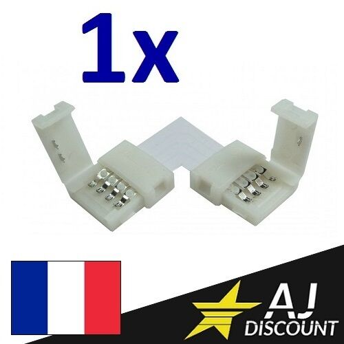 """strip 4 broches RGB 5050 Connecteur Angle Droit /""""L/"""" 90° pour ruban led"""