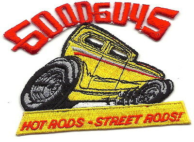 "GoodGuys Good Guys Racing Patch 3-1/2"" Long New Iron On Embroidered US Seller"