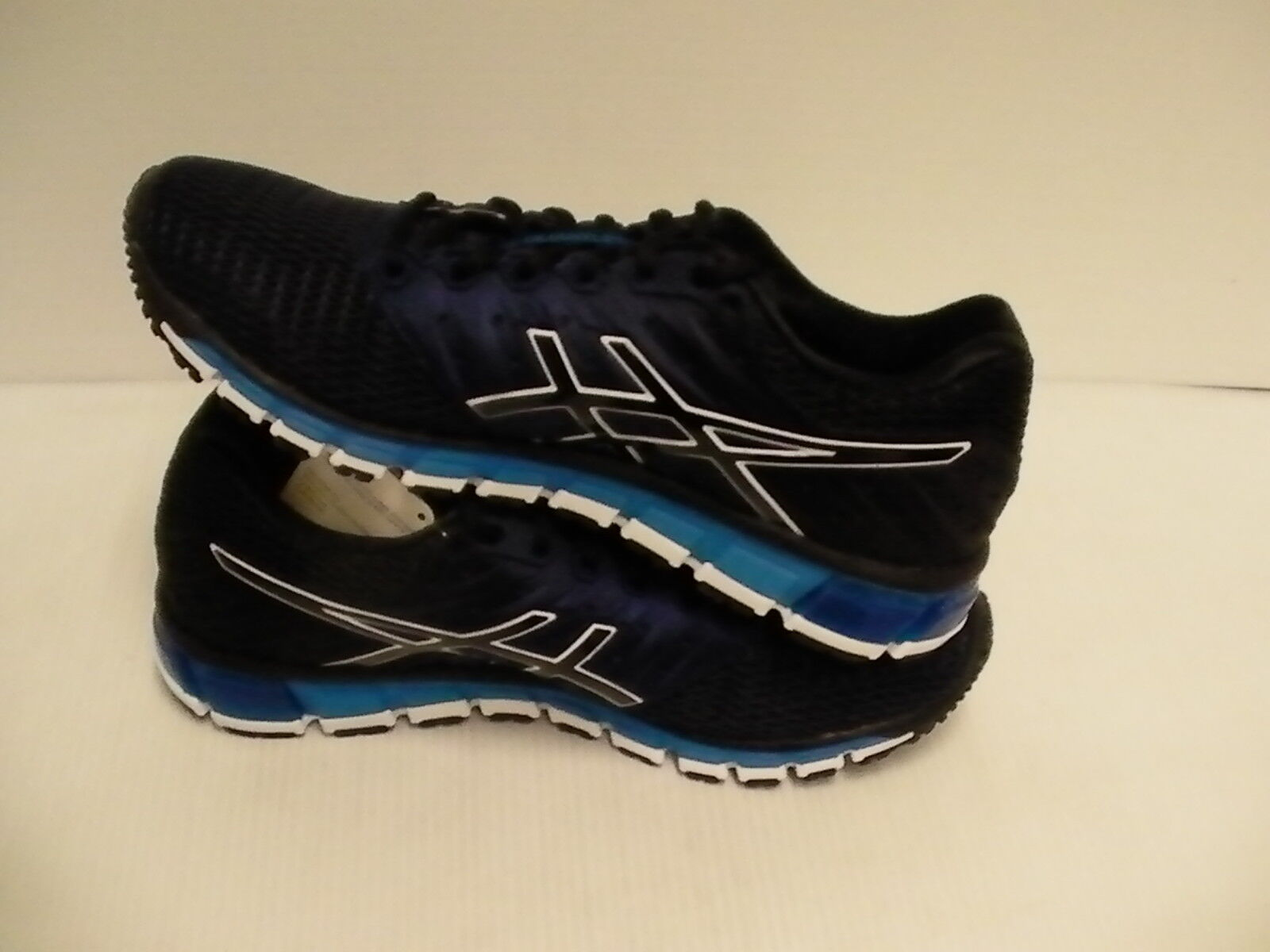 Asics Homme Gel Quantum 180 2 Chaussures de Pointure Course Caban Noir Bleu Pointure de 10.5 f1a231