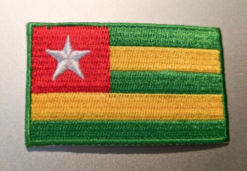 "Small Togo Flag Iron On Patch 2.5/"" x 1.5/"" inch Free Shipping"