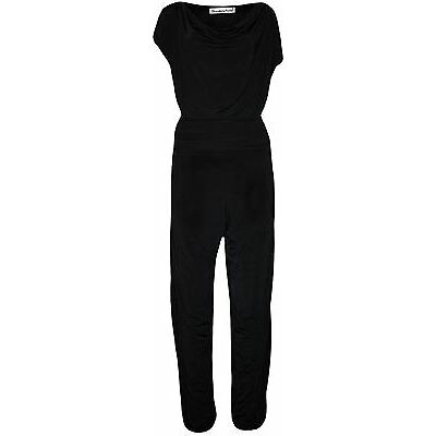 New Ladies Cap Sleeve Black Color Cowl Neck Plus Size Jumpsuit 14-28