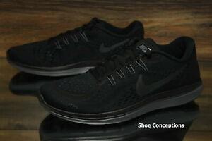 online retailer eccf7 63b38 Image is loading Nike-Flex-2017-RN-Black-Anthracite-698457-005-