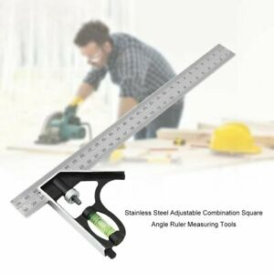 Stainless-Steel-Combination-Protractor-Square-Angle-Ruler-Measuring-Tool