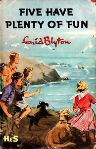 ENID-BLYTON-FAMOUS-FIVE-HAVE-PLENTY-OF-FUN-1ST-FIRST-EDITION-1955-1-1-DW-DJ