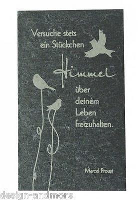 "Relief Schiefertafel ""Stückchen Himmel"" Schiefer Momente Art. 210"