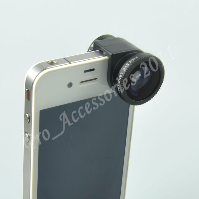 3 in 1 Phone Lens Fisheye Lens/Wide Angle Lens/Macro Lens Set For iPhone 4 4S