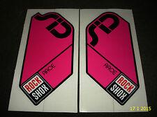 Auténtico Rockshox Sid Race Magenta Tenedor Pegatinas #2 calcomanías Rock Shox aufkleber