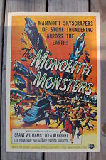 The Monolith Monster Lobby Card Movie Poster Grant Williams