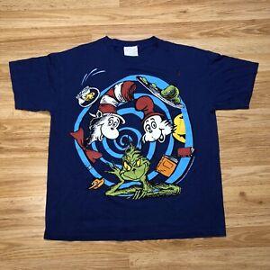 Rare-Vintage-1998-Dr-Seuss-T-Shirt-Grinch-Cat-in-The-Hat-Fish-Green-Ham-Sz-M
