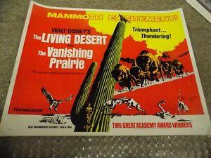 THE-LIVING-DESERT-amp-THE-VANISHING-PRAIRIE-R-71-DISNEY-ORIG-1-2-SHEET-22-034-BY28-034