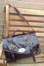 Lakeland Man Brown Leather Satchel Messenger Weekend Laptop Bag Work Holiday Vgc
