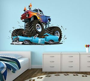 Pleasing Details About Monster Truck Wall Decal Boys Bedroom Art Decor Gravedigger Sticker Vinyl J132 Home Interior And Landscaping Ologienasavecom