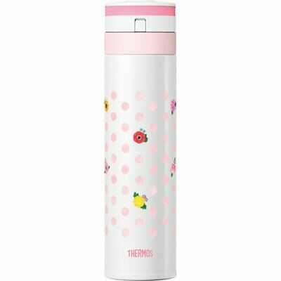 New Thermos Stainless Steel Water Bottles 0.45L JNS-450G-F-WH flower White HK*1