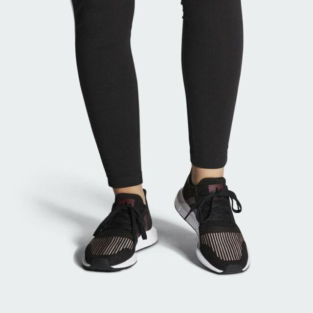 Size 9.5 - adidas Swift Run Black Maroon