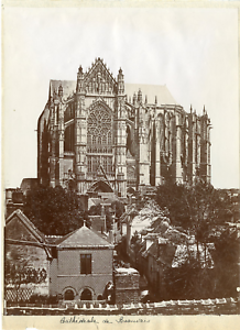 France-Cathedrale-de-Beauvais-Vintage-print-Photomecanique-21x27-Cir