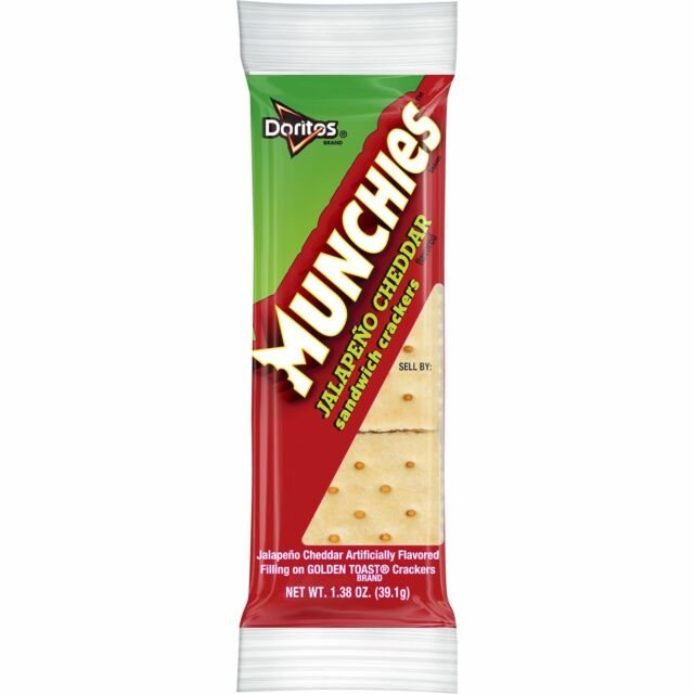 Munchies Jalapeno Cheddar Flavored Sandwich Crackers 32 count