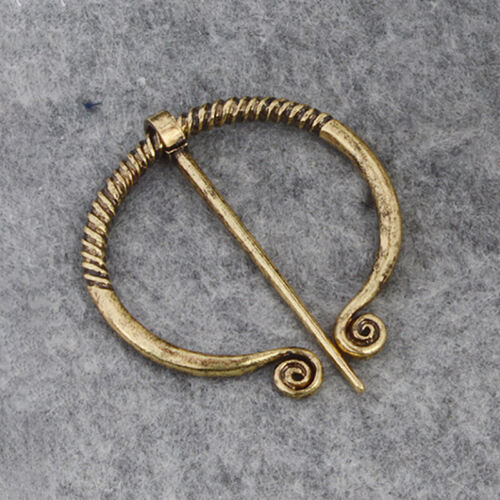 Classic Celtic Viking Brooch Buckle Medieval Hollow Pin Cloak Clasp Pin Jewelry