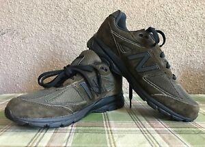 on sale 728d9 f98fd Details about New Balance 990v4 Kids School Grade Suede Sneaker Shoes |  Olive Green KJ990OLG