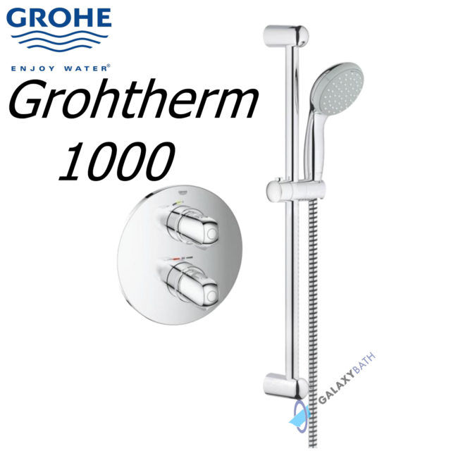 GROHE 34575000 Grohtherm 1000 Shower Tap With RAPIDO T-concealed ...