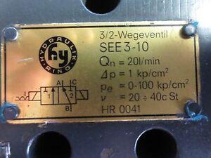 HYDRAULIK-RING HR 0041 / SEE3-10 HYDRAULIC VALVE - w/ SOLENOIDS (2) 24V, 0.63A