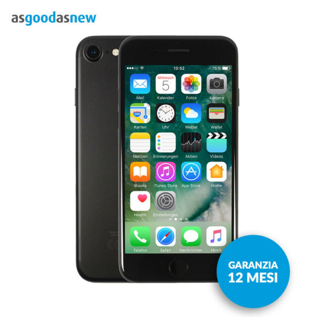 Apple iPhone 7 256GB Nero opaco - Originale - Garanzia 12 mesi - Ricondizionato