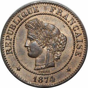 O297 Rare 5 Centimes Cérès 1874 A Paris Fdc !!!! > Faire Offre