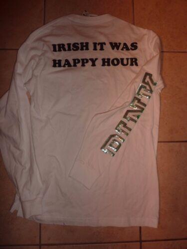 "VICTORIAS SECRET PINK BLING SHAMROCK ST PATRICKS /""IRISH IT WAS HAPPY HOUR/"" NWT"